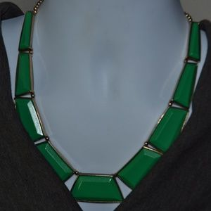 Jewelry - Vintage Faceted Green Resin Statement Necklace